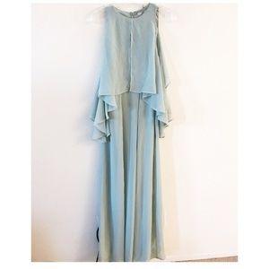 NWT ASOS seafoam green chiffon maxi dress 4